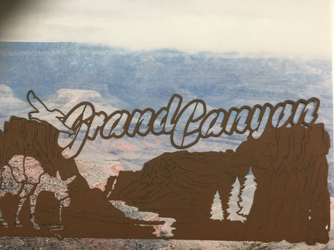 GRAND CANYON IMAGE Travel LasVegas Laser Cuts Brown LV