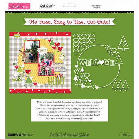 Bella Blvd WREATH Cut-Outs Scrapbooksrus