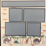 "Premade Pages DINOSAURS (2) 12""X12"" Scrapbook Pages Scrapbooksrus"