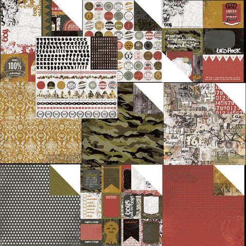 "Kaisercraft ATTITUDE Double-Sided 12""X12"" Cardstock Sheet - Scrapbook Kyandyland"