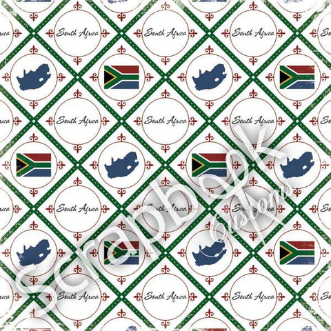 "Discover South Africa Travel 12""x12"" Scrapbook Papers - Scrapbook Kyandyland"