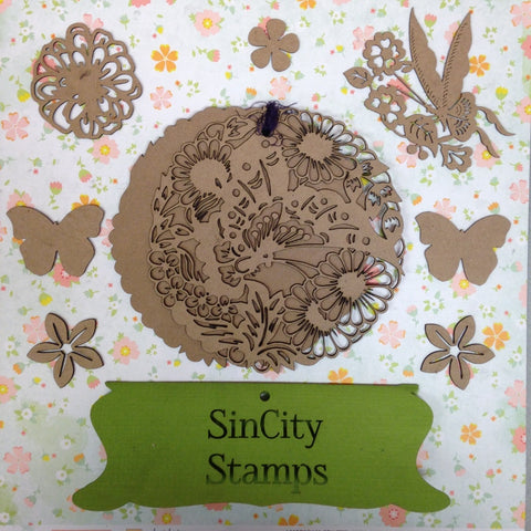 "Sin City Stamps Butterfly 2 Chip Board Album  5.5"" X 5.5 '' - Scrapbook Kyandyland"