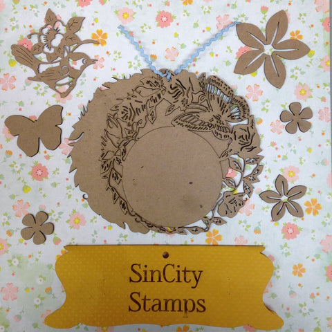 "Sin City Stamps Butterfly Chip Board Album  5.5"" X 5.5 '' - Scrapbook Kyandyland"