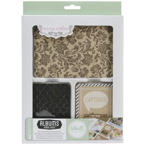 WeRM SNAPSHOTS Teresa Collins Journaling Cards 100pc - Scrapbook Kyandyland