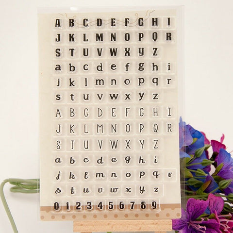 4 FONT ALPHABET Clear Acrylic Stamp Set 114pc
