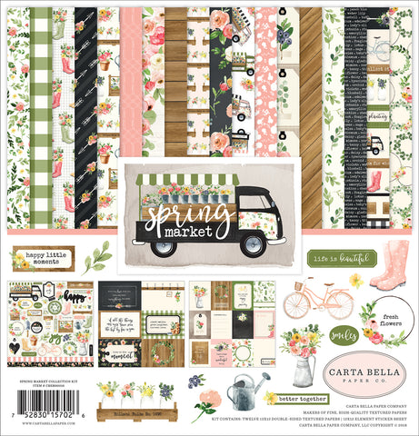 "Echo Park  12""x12"" SPRING MARKET 13pc COLLECTION KIT Scrapbooksrus"