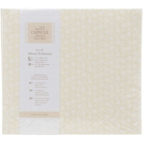 "Docrafts Papermania OYSTER BLUSH 8""X8"" Fabric Postbound Album"