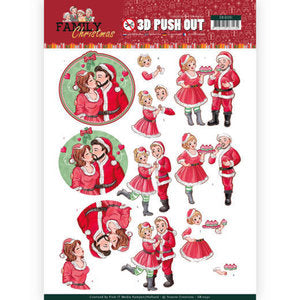 FAMILY CHRISTMAS 3D Push Out Diecuts Scrapbooksrus