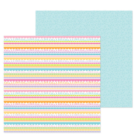 "Doodlebug Simply Spring BLUE SKIES 12""X12"" Cardstock Paper Scrapbooksrus"