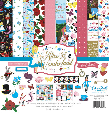 "Echo Park 12""x12"" ALICE IN WONDERLAND No. 2 Collection Kit Scrapbooksrus"