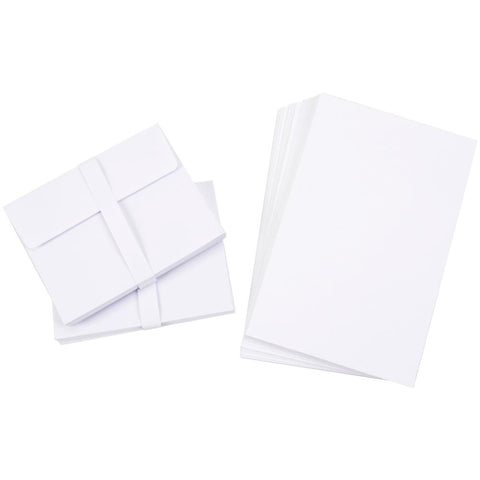"Darice A2 CARDS & ENVELOPES 50 sets 4.25""x5.5"" White"