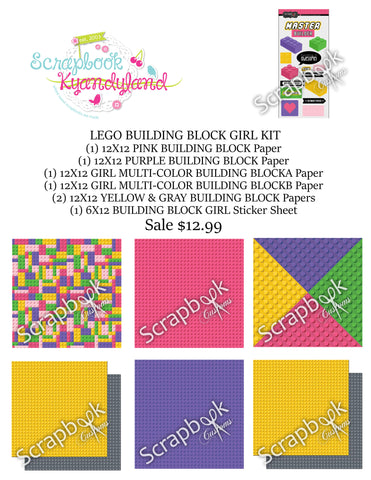 LEGO GIRL SCRAPBOOK KIT Building Blocks World 22pc - Scrapbook Kyandyland