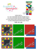 LEGO SCRAPBOOK KIT Building Blocks World #1 21pc - Scrapbook Kyandyland