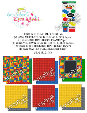 LEGO SCRAPBOOK KIT Building Blocks World #4 21pc - Scrapbook Kyandyland