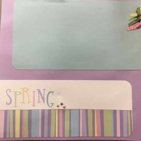 "$5.00 Premade Pages SPRING 12""X12"" Scrapbook Pages Scrapbooksrus"