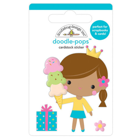 Doodlebug BIRTHDAY PRINCESS Doodle-Pops 3D Stickers Scrapbooksrus