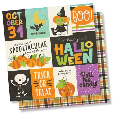 Simple Stories HAPPY HALLOWEEN 3x4& 4x6 ELEMENTS 12x12 Scrapbook Paper Scrapbooksrus