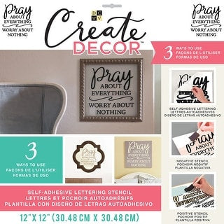 DCWV Create Decor PRAY ABOUT EVERYTHING Stencil