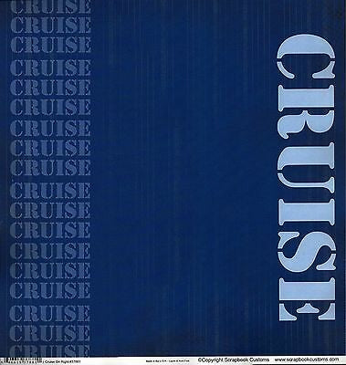 "CRUISE ON RIGHT 12""X12"" Scrapbook Travel Beach Paper Scrapbooksrus"