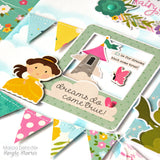 Simple Stories LITTLE PRINCESS Chipboard Stickers 27pc Scrapbooksrus