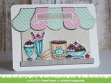 Lawn Fawn TREAT YOURSELF Clear Stamps 8pc