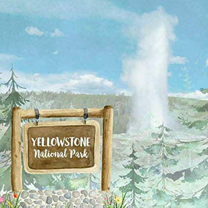 "YELLOWSTONE National Park Watercolor 12""X12"" Paper Scrapbooksrus"