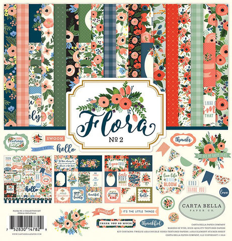 "Carta Bella FLORA NO. 2 Collection 12""X12"" Scrapbook Kit Scrapbooksrus"