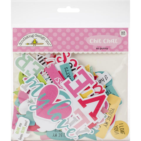 Doodlebug SO PUNNY Chit Chat Diecut Pack 93 pc
