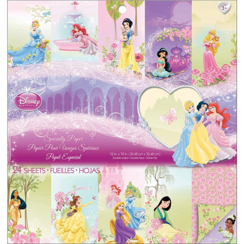 "Disney Ek Success SPECIALTY PRINCESS 12""x12"" Paper Pad 24pc"