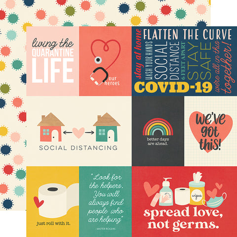 "Simple Stories Quarantined QUARANTINE LIFE 12x12"" Scrapbook Paper Scrapbooksrus"