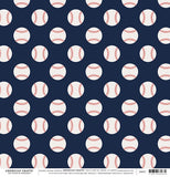"American Crafts The Color Of Memories BASEBALL 12""X12"" Paper 1 pc Scrapbooksrus"
