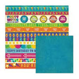 We R Memory Keepers 6pc FUNFETTI PAPER KIT Scrapbook Sheets #2