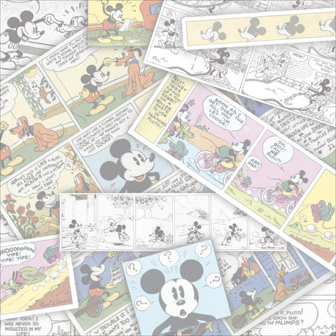 "Disney Sandylion COMIC STRIP 12""X12"" Scrapbook Paper Sheet - Scrapbook Kyandyland"