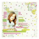 "Kaisercraft CONFETTI WONDERFUL 1 Sheet 12""X12"" Paper - Scrapbook Kyandyland"