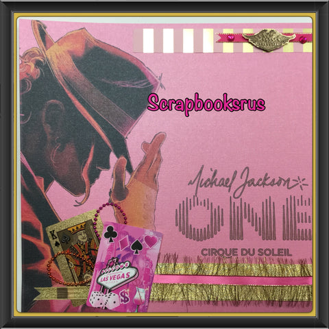 "MICHAEL JACKSON ONE 12""x12"" Scrapbook Page Kit"