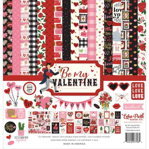 "Echo Park 12""x12"" BE MY VALENTINE Collection Kit Scrapbooksrus"