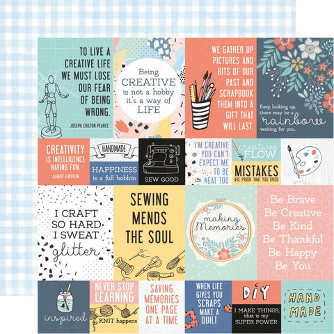 "Kaisercraft Crafternoon Collection DIY 12""X12"" Scrapbook Paper Scrapbooksrus"