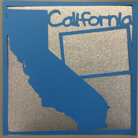"Page Frame CALIFORNIA Wave 12""x12"" Scrapbook Overlay"