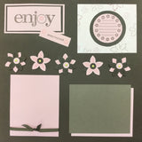 "$5.00 Premade Pages ENJOY EVERY MOMENT (2) 12""X12"" Scrapbook Pages Scrapbooksrus"