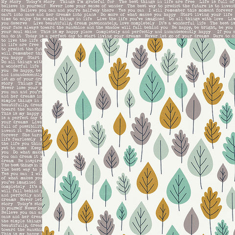 Kaisercraft Hide And Seek TREES 12X12 Scrapbook Paper Scrapbooksrus