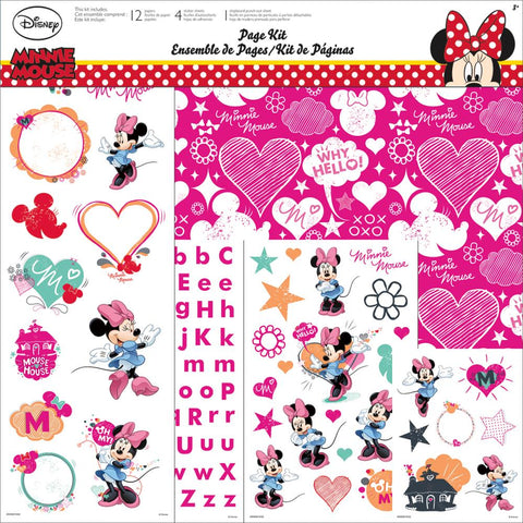 "Disney MINNIE MOUSE 12""x12"" Scrapbook Page Kit"