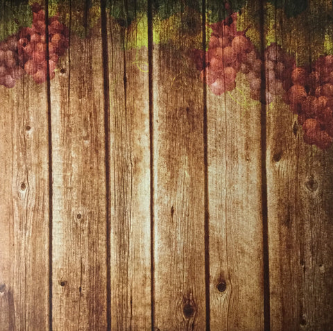 "Scrapbook Customs VINEYARD BARREL - RIGHT 12""x12"" Scrapbook Paper Scrapbooksrus"