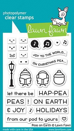 Lawn Fawn PEAS ON EARTH Holiday Clear Stamps