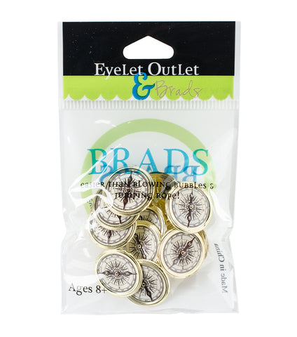 Eyelet Outlet COMPASS Brads 12pc