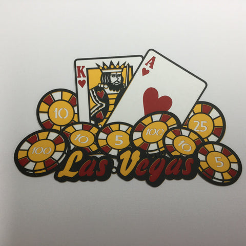 LAS VEGAS CARDS CHIPS Poker Travel LasVegas Laser Cut Diecut LV Scrapbooksrus