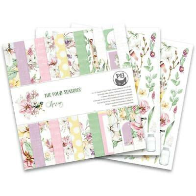 "P13 The Four Seasons SPRING 12""X12"" Designer Paper Pack 14pc. Scrapbooksrus"
