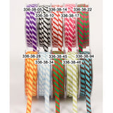 "May Arts 1/4"" DIAGONAL STRIPE Ribbon 1 yard yd - Scrapbook Kyandyland"