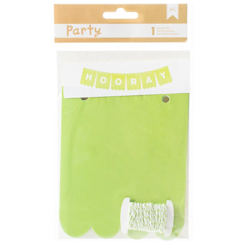 American Crafts DIY Party Banner Kit Green & White - Scrapbook Kyandyland