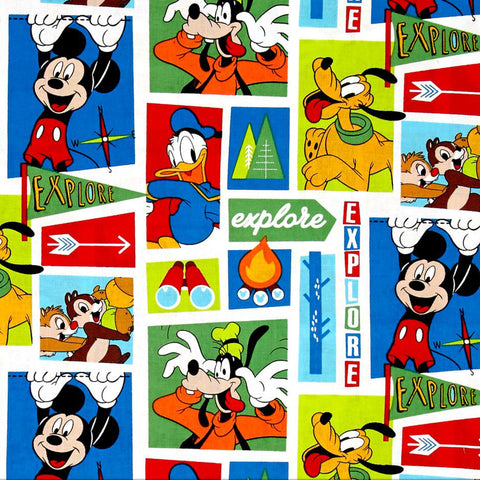 Disney Mickey and Friends Goofy Chipmunks Donald Scrapbook Paper
