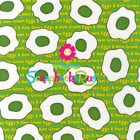 "Dr. Seuss GREEN EGGS & HAM 12""x12"" Scrapbook Paper"